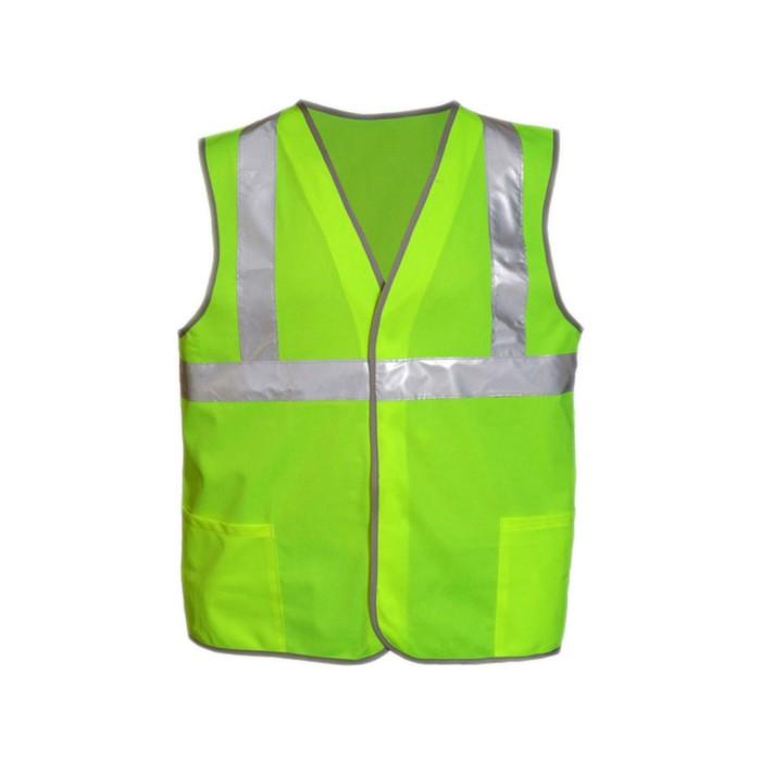 Жилет сигнальный светоотражающий с карманами, тип 6аТ, р.48-50 (L), лимонный