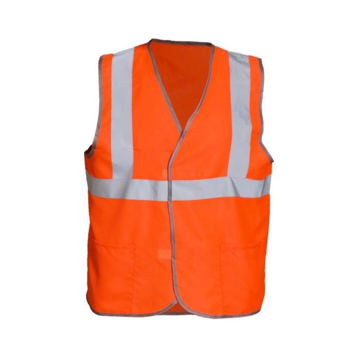 Жилет сигнальный светоотражающий с карманами, тип 6аТ, р.52-54 (XL), оранжевый