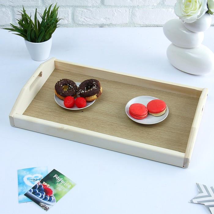 Поднос для завтрака со вставкой, цвет орех санома, МАССИВ, 50х7х29,5см
