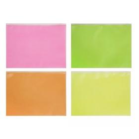 Папка-конверт на гибкой молнии Zip A4 Fizzy Neon, микс Ош