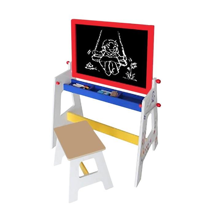 """Детская игровая мебель """"Стол-доска 2 в 1"""", для рисования мелом, со стульчиком"""