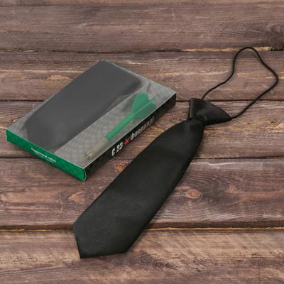 """Подарочный набор: детский галстук и ручка-дротик """"С 23 февраля"""""""