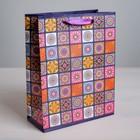 Пакет ламинированный вертикальный «Мозайка», ML 23 × 27 × 8 см - фото 8441933