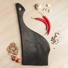 """Доска разделочная, для подачи """"Чёрный друид"""", 50х20 см, цельный массив дуба - фото 308065831"""