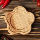 """Тарелка деревянная """"Звездочка"""", массив ясеня, 15 х 15 см"""