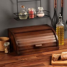 """Хлебница деревянная """"Кантри"""", 37 см, массив бука"""