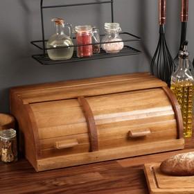 """Хлебница деревянная """"Славянская"""", двойная, 45 см, массив бука"""