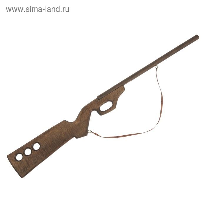 """Сувенир деревянный """"Ружьё охотничье"""", чёрное, массив бука, 65 см"""