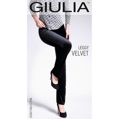 Легинсы женские LEGGY VELVET 03 цвет чёрный (black), размер 48-50 (L)