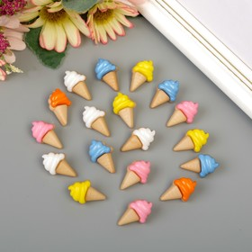 """A set of buttons decorative plastic """"ice cream Cone"""" (the set of 18 PCs) 2,2x1,3 cm"""