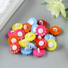 """A set of buttons decorative plastic """"Flowers bright"""" (set 22 PCs) 1,5x1,5 cm"""