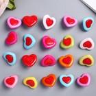 """Набор пуговиц декоративных пластик """"Сердечки love"""" (набор 20 шт) 1,5х1,5 см"""