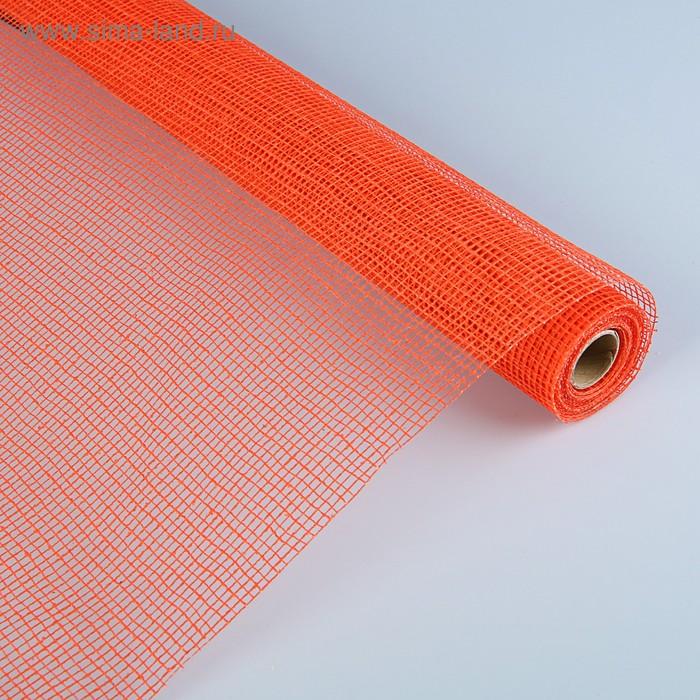 Сетка «Джут» натуральная, BOZA, ярко-оранжевый, 0,53 x 4,57 м