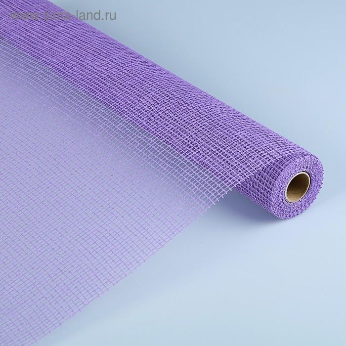 Сетка «Джут» натуральная, BOZA, фиолетовый, 0,53 x 4,57 м