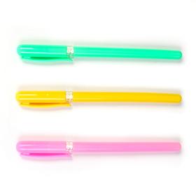 Ручка шариковая 0,5мм МИНИ стержень синий корпус МИКС с прозрачным держателем CALLIGRATA Ош