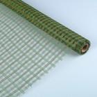 Сетка «Поло» натуральная металлизированная, BOZA, изумрудный, 0,53 x 4,57 м
