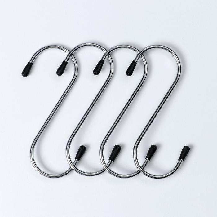 Набор крючков для рейлинга 12 см, 4 шт