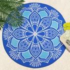 """Полотенце пляжное круглое Этель """"Deep Blue """", 150х150 см, 100 % п/э"""