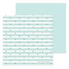 Бумага для скрапбукинга «Мятная полоска», 20 × 20 см, 180 г/м