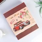 "Photo album for 200 photos 10x15 cm ""vintage car with flowers"" in a box MIX 26х20,5x5,5 cm"