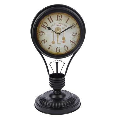 """Часы настольные интерьерные """"Идея"""", цвет черный, 43х23 см"""