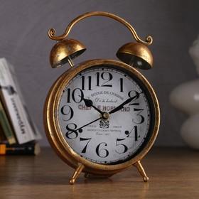 """Часы настольные """"Волна"""", состаренное золото, 20х13.5 см"""