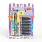 Ручки перьевые 2шт+12картриджей синих на блистере МИКС