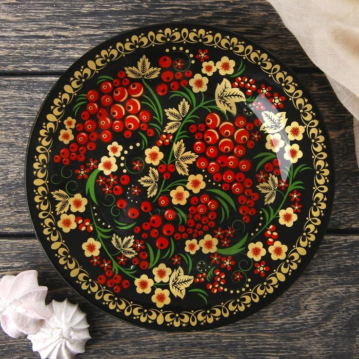 Тарелка десертная Доляна «Русская калина», d=20 см - фото 797929491