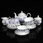 """Сервиз чайный """"Идофея"""", 15 предметов: чайник 0,83 л, сахарница 230 мл, молочник 200 мл, чайная пара 230 мл"""