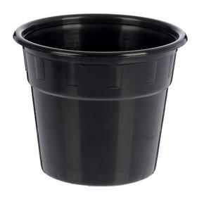 Горшок 2 л, цвет чёрный