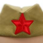 Костюм военного для девочки: платье, пилотка, трикотаж, хлопок 100%, рост 86 см, 1-2 года, цвета МИКС - фото 105521967