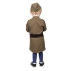 Костюм военного для девочки: платье, пилотка, трикотаж, хлопок 100%, рост 92 см, 1,5-3 года, цвета МИКС - фото 105522154