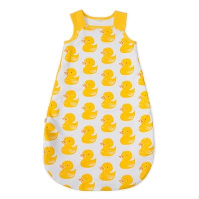 Спальник-кокон детский для новорожденных детей, размер 56-62 см, цвет белый, принт жёлтые ут   32424