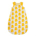 Спальник-кокон детский для новорожденных детей, размер 68-74 см, цвет белый, принт жёлтые ут   32425