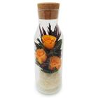"""Композиция в вазе """"Графин"""", розы оранжевые, 9 х 9 х 28 см"""