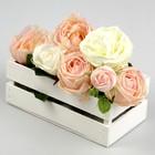 Ящик реечный белый, 24.5 х 13.5 х 9 см