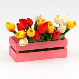 Ящик реечный нежно-розовый, 24.5 х 13.5 х 9 см Ош