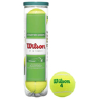 Мяч теннисный WILSON Starter Green Play, 4 шт., WRT137400