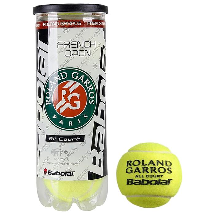 Мяч теннисный BABOLAT French Open All Court, 3 шт., одобрено ITF, 501042