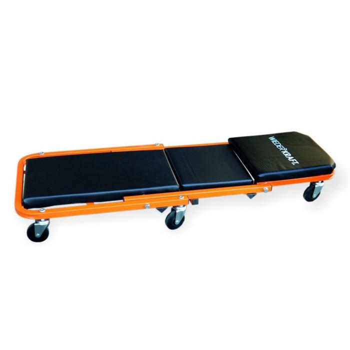 Лежак-трансформер WIEDERKRAFT WDK-65386, подкатной, 3 положения, 6 колес, до 140 кг