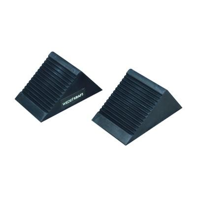 Упор WIEDERKRAFT WDK-88001,  противооткатные, резиновые, 2 шт, 105х75х75 мм