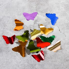 """The filler for the bowl """"Confetti"""" butterfly 4 cm, foil, color MIX, 500g"""