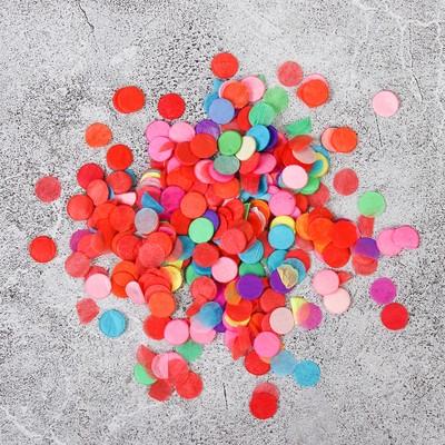 """Наполнитель для шара """"Конфетти круг"""" 0,5 см, бумага, цвет МИКС, 1000г"""