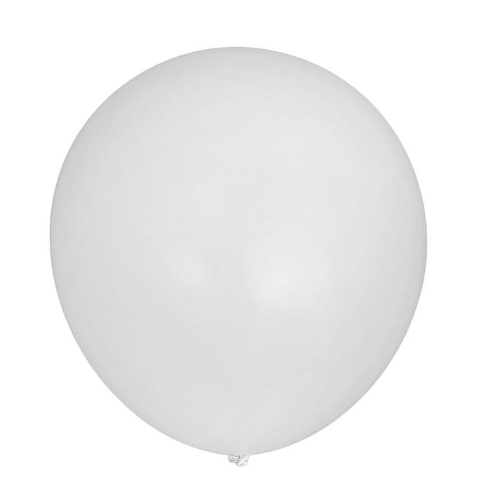 """Шар латексный 12"""", набор 5 шт., цвет белый - фото 952986"""