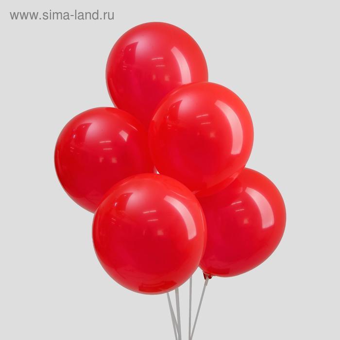 "Balloon latex 12"", set of 5 PCs, red"