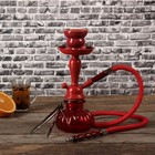 Кальян 26 см, 1 трубка, колба красная, шахта красная матовая