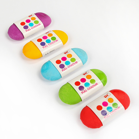 Eraser shaped, oval, MIXED