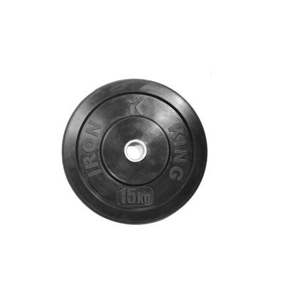 Диск для кроссфита из цельной резины (бампер) черный 15 кг