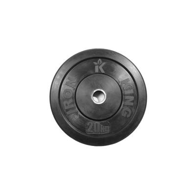 Диск для кроссфита из цельной резины (бампер) черный 20 кг