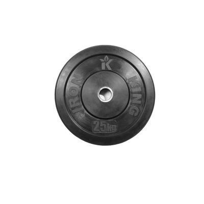 Диск для кроссфита из цельной резины (бампер) черный 25 кг